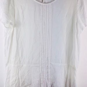 Tommy Hilfiger women's LG white pleated blouse